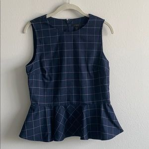 J Crew Wool Peplum Top